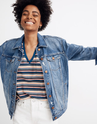 Madewell The Oversized Jean Jacket in Wortham Wash