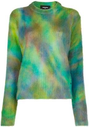 DSQUARED2 Tie-Dye Print Jumper