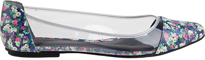 Rebecca Minkoff Isadora Ballet Flat Clear/Floral Leather