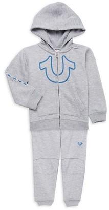 True Religion Baby Boy's 2-Piece Cotton-Blend Hoodie Pants Set