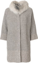 Fabiana Filippi fur trim cardi-coat