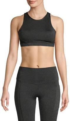 Wear It To Heart Glitz Nighneck Cutout-Back Sports Bra