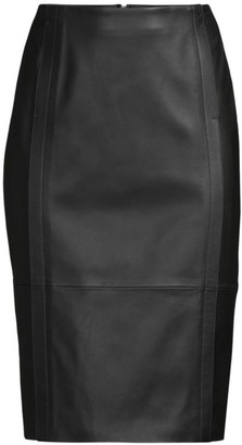 HUGO BOSS Sepassa Leather Pencil Skirt