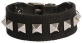 Valentino Men's Nylon Rockstud Bracelet, Black