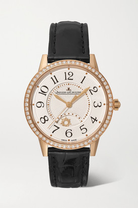 Jaeger-LeCoultre Jaeger Lecoultre Rendez-vous Night & Day 34mm Medium Rose Gold, Alligator And Diamond Watch