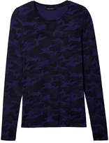 Banana Republic Camo Stretch-Modal Long-Sleeve Crew
