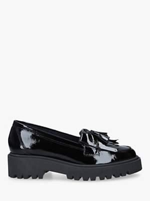 Kurt Geiger London Klarke Flatform Tassel Leather Loafers, Patent Black