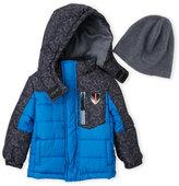 London Fog Infant Boys) Two-Piece Hooded Puffer Jacket & Hat Set