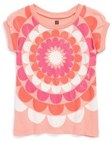Tea Collection 'Radiant Flower' Puff Sleeve Tee (Toddler Girls, Little Girls & Big Girls)