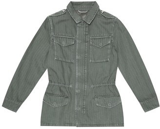BRUNELLO CUCINELLI KIDS Cotton and linen jacket