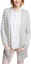 Esprit Women's 026ee1k051-Stripe-Optik Cardigan