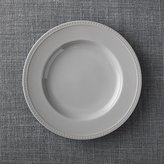 Crate & Barrel Staccato Grey Dinner Plate
