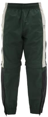 Vetements Zip-off Technical-shell Track Pants - Mens - Black Green