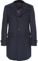 HUGO BOSS Sintrax Virgin Wool And Cashmere-blend Coat - Navy