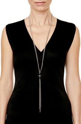 Sheryl Lowe Gwenyth Diamond Cross Chain Necklace