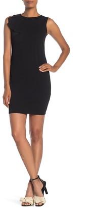 Bebe Sassy Ruffle Detail Bodycon Mini Dress