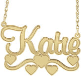 JCPenney FINE JEWELRY Personalized 14K Gold Over Sterling Silver Name Necklace with Hearts