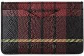 Alexander Mcqueen Tartan Saffiano Leather Card Holder