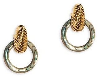 Lizzie Fortunato 18K Goldplated Spiral Shell Earrings