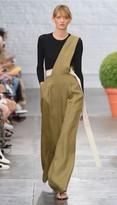 Tibi Hessian Linen Asymmetric Jumpsuit