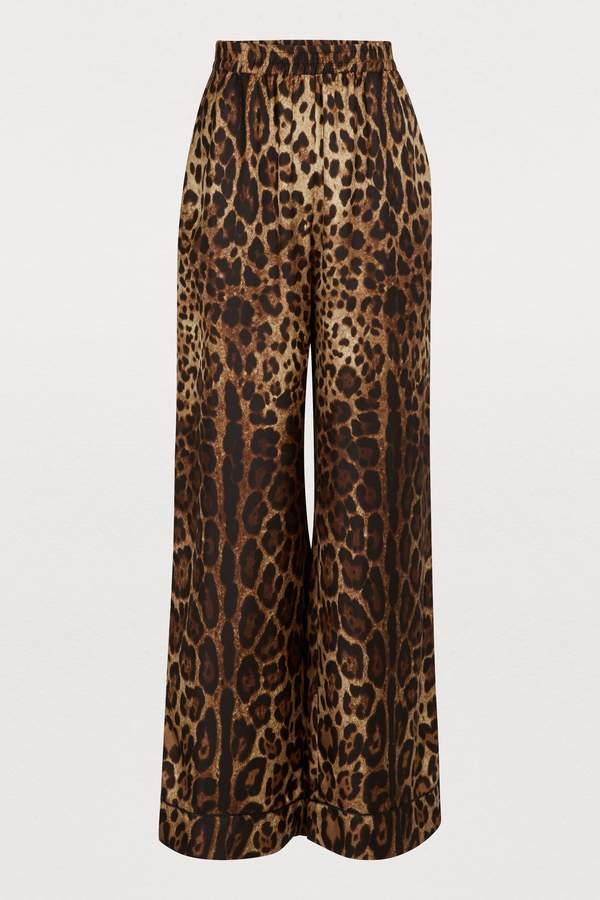 e1498a100444 Leopard Print Silk Pant - ShopStyle