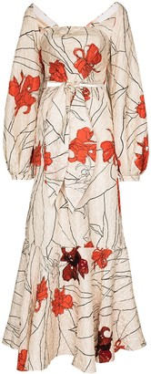 Johanna Ortiz Trazos Misteriosos floral-print maxi dress