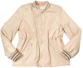 Chloé NYLON JACKET WITH FAUX FUR LINING