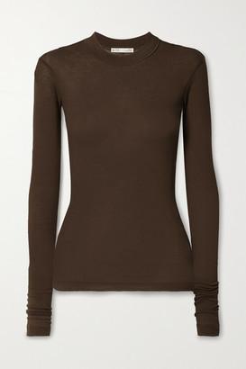 BITE Studios Ribbed Organic Cotton-jersey Top - Light brown