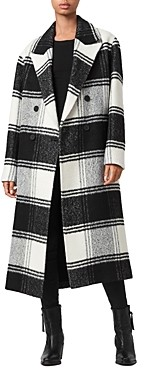 AllSaints Lottie Checkered Coat