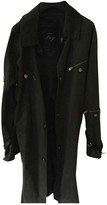 Fay Green Cotton Trench Coat for Women