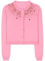 Miu Miu Embellished cashmere cardigan