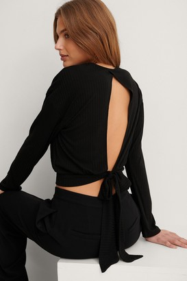 NA-KD Recycled Loose Knot Back Detail Top