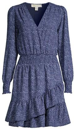 MICHAEL Michael Kors Blossom Ruffle Wrap Dress