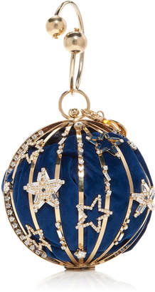 Rosantica Lunaria Embellished Gold-Tone Top Handle Bag