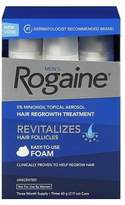 Rogaine Men's Minoxidil Hair Thinning & Loss Treatment Foam, 3 Month Unscented
