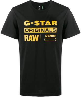 G Star Research logo print crew neck T-shirt