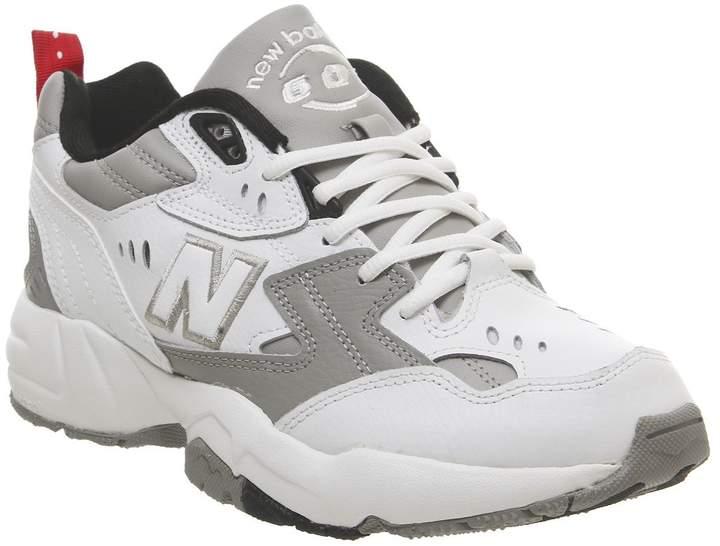 New Balance 608 Trainers White Grey