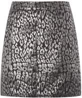 Dorothy Perkins Metallic Animal Jacquard Skirt
