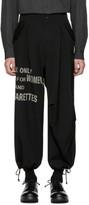 Yohji Yamamoto Black H4 Discharge Army Trousers