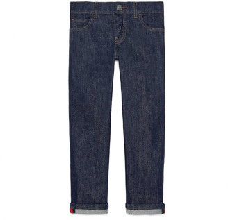 Gucci Children's denim trousers with Web