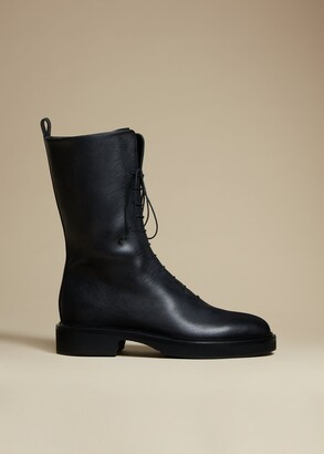 KHAITE The Conley Boot in Black Leather
