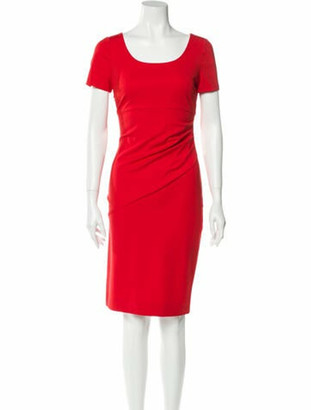 Diane von Furstenberg Scoop Neck Knee-Length Dress Red