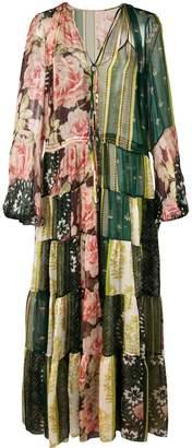 Oscar de la Renta sheer tiered maxi dress