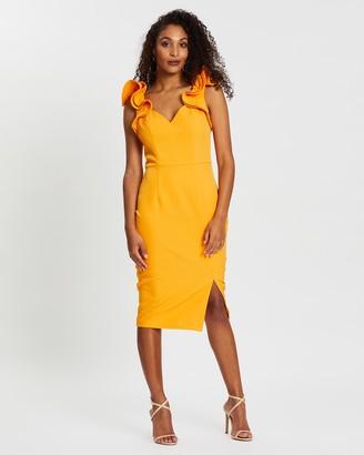 Bariano Bramble Frill Shoulder Dress