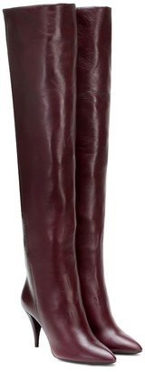 Saint Laurent Kiki leather over-the-knee boots