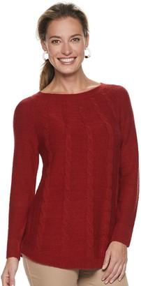 Croft & Barrow Women's Cable-Knit Swing Sweater