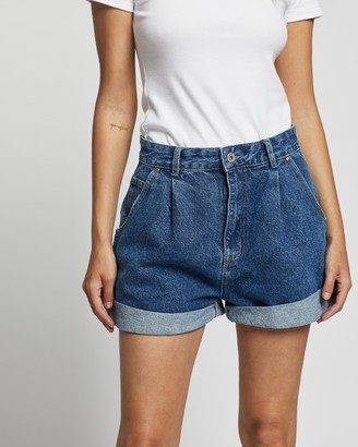 Cotton On Slouch Boyfriend Denim Shorts