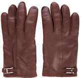 Hermes Cashmere-Lined Leather Gloves