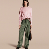 Burberry Crew Neck Cashmere Sweater, Pink