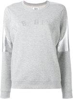 Zoe Karssen metallic detail sweatshirt - women - Cotton/Polyester - M